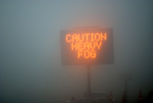 Caution Heavy Fog